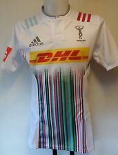 HARLEQUINS RUGBY 2015/16 PLAYER QUALITY AWAY JERSEY BY ADIDAS SIZE 7= MEDIUM