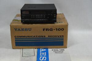 Yaesu FRG-100 Communication Reciever with Box & Manual - Needs Power Supply