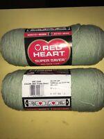 Yarn Redheart Supersaver 8oz 225gr Worsted Medium 4  100% acrylic Frosty Green