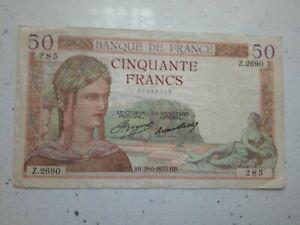 FRANCE -  50 FRANCS 1935 -  BANKNOTES