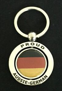PROUD AUSSIE - GERMAN METAL KEYCHAIN KEYRING GIFT AUSTRALIAN GERMANY SOUVENIR