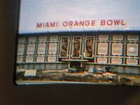 2 Amateur 35mm Slides Photo Miami Orange Bowl Football Dolphins 1967 Kodachrome