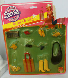 NRFB 1982 Barbie Finishing Touches Shoes and Bags Vintage Accessories Clothes