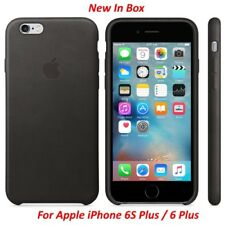 New In Box OEM Original Apple Black Leather Case For iPhone 6S Plus 6 Plus
