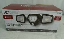 LUXWORX Battery Outdoor Motion Sensor Security LED Light, Black, NEW
