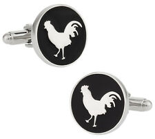 Round Rooster Cock Cufflinks Direct from Cuff-Daddy
