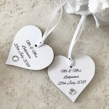 Personalised gift tag heart Wedding Engagement Valentine gift sign Favour P107