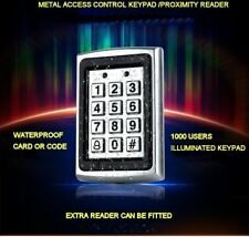 Metal RFID Reader Proximity Card Door Access Control Password Keypad + 10 Cards