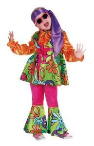 70er 80er Jahre Top Hose Kostüm Flowerpower Kinder Hippie Mädchen Hippiekostüm