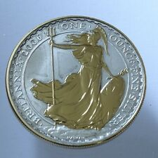More details for 2006 royal mint standing guardbritannia £2  .958 silver gold proof 1oz coin