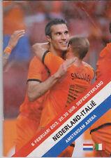 Programme / Programma Holland v Italy 06-02-2013 friendly