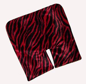 Toddler Red Zebra Fur Potty Piddle Pad - Pram, Buggy, Highchair or Trolley Liner