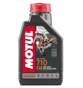 olio miscela Motul 710 2T 100% sintetico 2 tempi moto cross enduro minicross