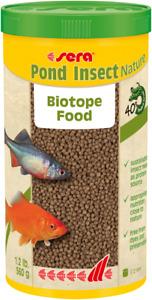 Sera 560g Pond Insect Nature 1L Natural Biotope Fish Food Aquarium Granules