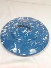 "Vintage Blue & White GraniteWare Lid 8 3/4"" Round"