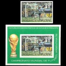 Football 1978 Sao Tome GERMANY WINNERS Stamp + souvenir sheet impf mnh