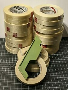 "23 ROLLS SCOTCH BRAND 3M FILAMENT TAPE 3/4"" W/ Plastic Dispenser"