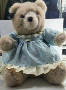 Applause Teddy Bear 1986 Lorelei Blue Yellow Dress Missing Hat