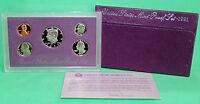 1991 S United States Mint ANNUAL 5 Coin Proof Set Original Box and COA