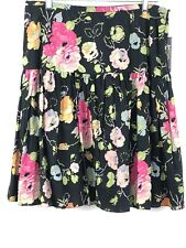 New American Living Pleated Floral Skirt Womens 10 Multicolor Drop Waist Cotton