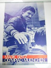 Vintage 1972 MARK SPITZ Olympic American Swimmer Gold Athlete Poster Muenchen