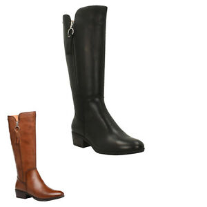 Pikolinos Womens Boots Daroca High-profile Knee-High Zip-Up Leather
