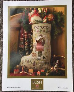Shepherds Bush Cross Stitch 'Richards Christmas Stocking' and charms