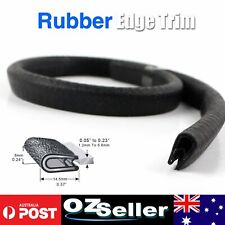 1.5M Rubber Edge Protector Trim Black U Channel w/ 1.2mm to 5.8mm Pinch Weld