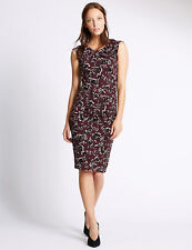 M&S Jersey Floral Drape Shift Dress 20 & 22 Reg RRP £39.50