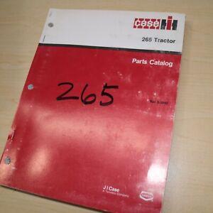 CASE IH 265 Tractor Parts Manual Book spare catalog farm 1987 factory original