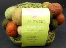 Be Sweet Bubble Ball Handmade Felted Balls Sport Merino Yarn Greens Browns Beige