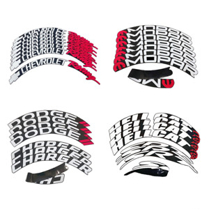 """Tire Lettering Car Stickers Permanent Wheel 15""""-22"""" Tyre Decal 3D Waterproof"""