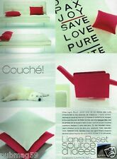 Publicité advertising 2001 Mobilier Canapé Decoration Ligne Roset