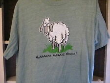 Vintage T shirt Hell  Baaaaa means No   t shirt size L