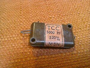 Silver Mica Capacitor TCC PLESSEY 5000PF 20%
