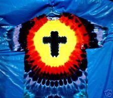 5X Multi-color CHRISTIAN CROSS Hand-dyed TIE DYE  T-SHIRT Size XXXXXL