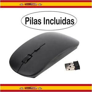 Ratón Óptico Inalámbrico 1600 DPI Sin Cable Receptor USB 2.4GHz para PC Negro
