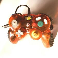 Mad Catz Nintendo Gamecube Controller Clear Orange - TESTED WORKS Wii madcatz