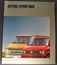 1988 Chevrolet Sportvan & Astro Van Truck Brochure Beauville Excellent Original