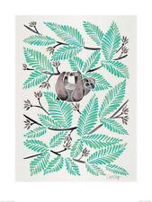 Cat Coquillette (Happy Sloth) Art Print  PPR51146  60cm x 80cm