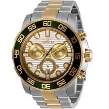 Invicta 31291 Men's Pro Diver Two Tone Case White Dial Chronograph Watch