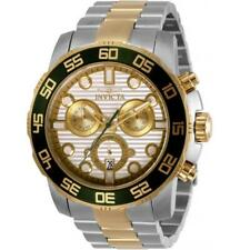 Invicta 31291 Men'S Pro Diver два тона чехол белый циферблат часы хронограф