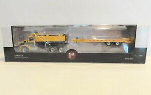 "FIRST GEAR 50-3406 KENWORTH T880 Dump Truck w/ Beaver Tail Trailer 1:50 ""NEW"""
