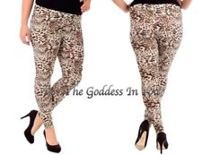 P22 LEOPARD TAN & BROWN LEGGINGS WOMENS PLUS SIZE 1X
