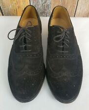 Van Bommel Men's Brown Oxford Wingtip Suede Dress Shoes Shoes USA 10 UK 9.5