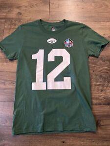 Size M New York Jets TShirt Joe Namath #12 Majestic Hall Of Fame Jersey Green