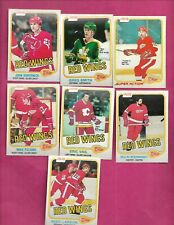 1981-82 OPC DETROIT RED WINGS  EX-MT  CARD LOT (INV# C2008)