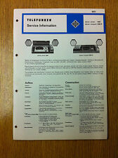 Telefunken 2080 Stereo Center 2080R Stereo Compact Service Information Manual