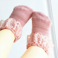 Newborn Baby Girl Toddler Princess Lace Flower Ankle Sock Baby Ruffle Socks