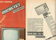 Publicité 1968  ( Double page )   Téléviseur DUCRETET THOMSON
